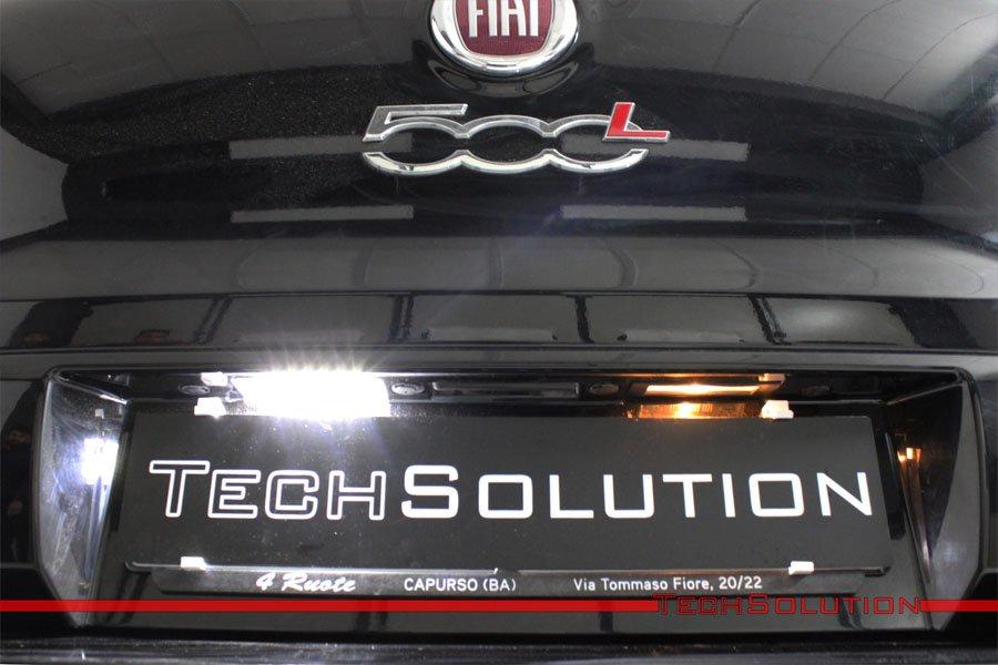 fari led fiat 500l confronto luce targa installazione tech solution