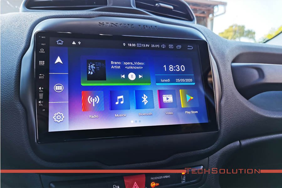 autoradio monitor android jf sound jeep renegade tech solution