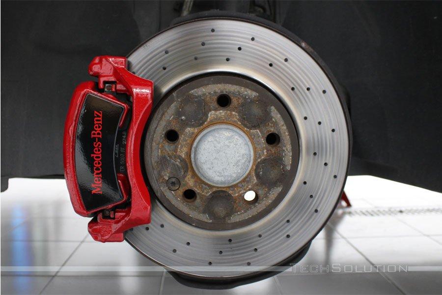 pinza mercedes classe a rosso verniciatura tech solution
