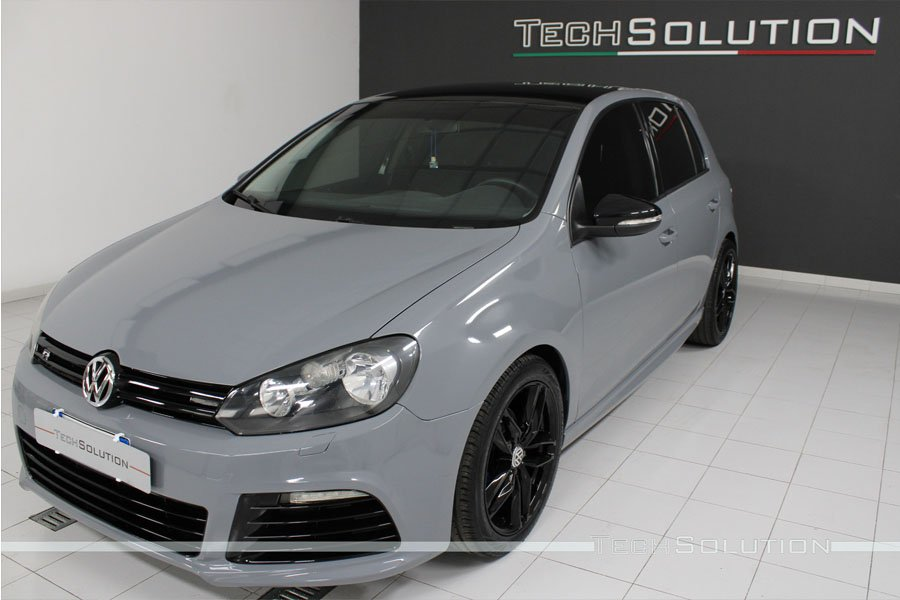 wrapping-vw golf 6 grigio nardo tech solution bari anteriore