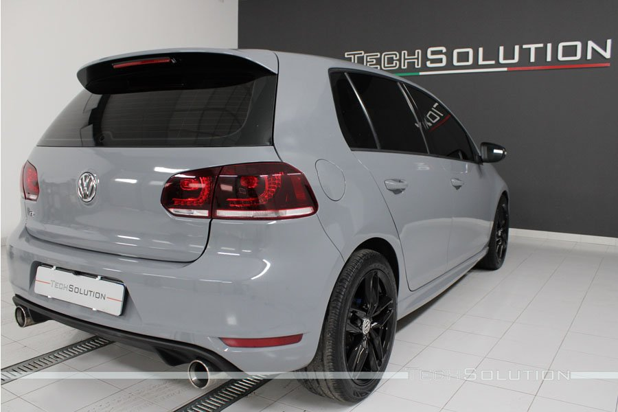 wrapping vw golf 6 grigio nardo tech solution bari posteriore