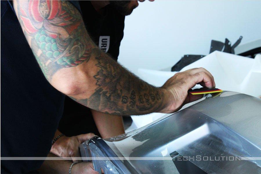 Porsche GT3 RS PPF pellicola protettiva tech solution bari