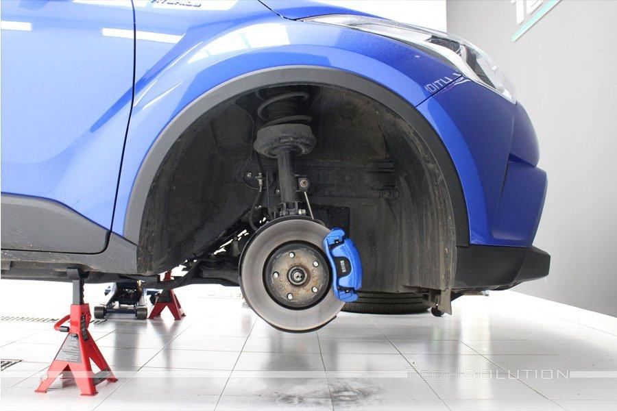 cambio colore pinze blu toyota c-hr tech solution bari