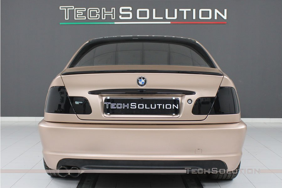 bmw e46 msport posteriore-oscuramento-fari vetri wrapping bari tech solution