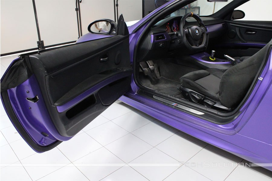 bmw serie 3 wrapping-pellicola-purple-apa-joker tech solution bari interni
