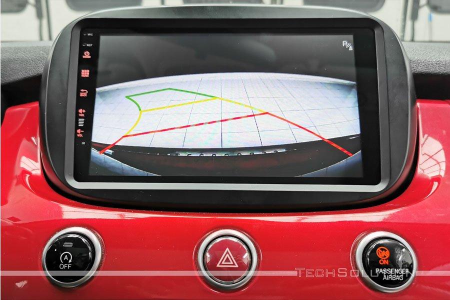 linee dinamiche retrocamera parcheggio monitor fiat 500x