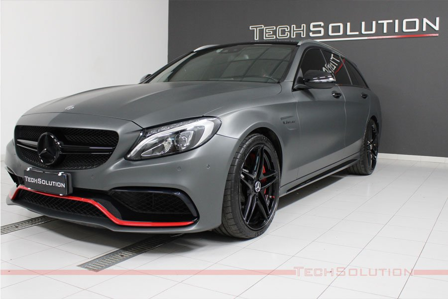 anteriore wrapping mercedes c63s amg